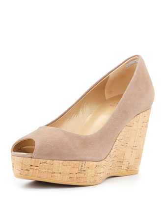 Anna Peep Toe Wedge Pump, Haze