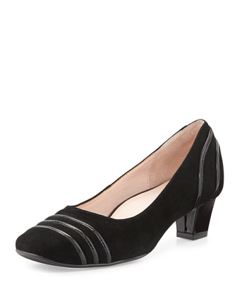 Charise Suede Pump, Black