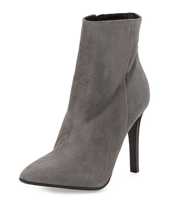 Dubio Pointy Suede Bootie, Gray