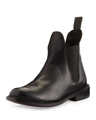 Dartford Leather Chelsea Boot, Black