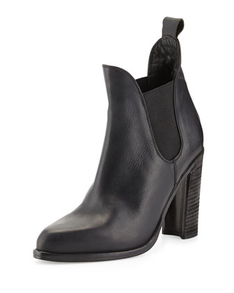 Stanton Leather Chelsea Boot, Black