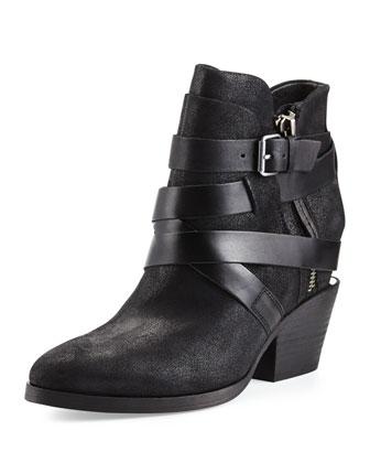 Manhattan Strappy Leather Bootie
