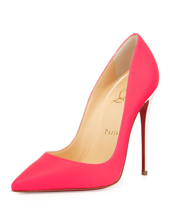 So Kate Matte Patent Red Sole Pump, Fuchsia