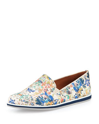 Sable Floral-Print Canvas Sneaker