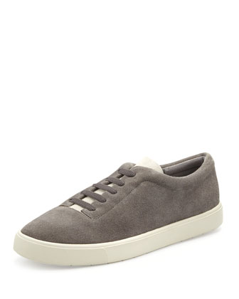 Canyon Suede Slip-On Sneaker, Heather Steel/Bone