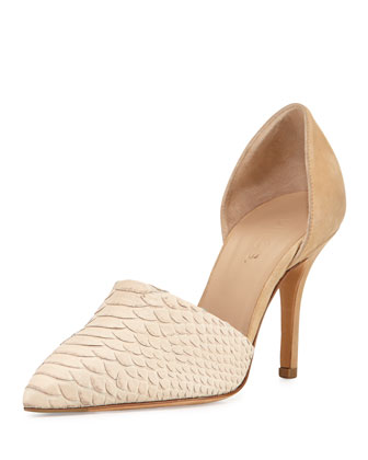Claire Python-Print d'Orsay Pump, Nude