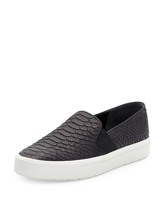 Berlin Python-Print Skate Shoe, Black