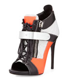 Neon Sneaker Ankle Boot