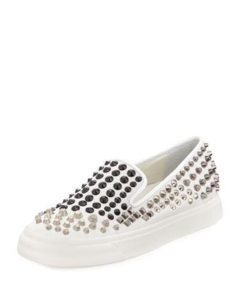 Pyramid-Stud Skater Slip-On Shoe
