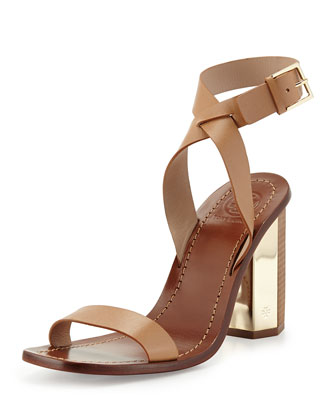 Bleecker Strappy Sandal, Natural Blush
