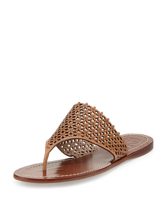 Daisy Perforated Thong Sandal