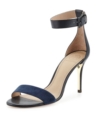 Classic Ankle Strap Sandal, Tory Navy