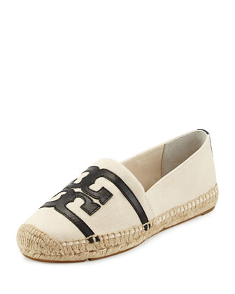 Double-T Canvas Espadrille Flat