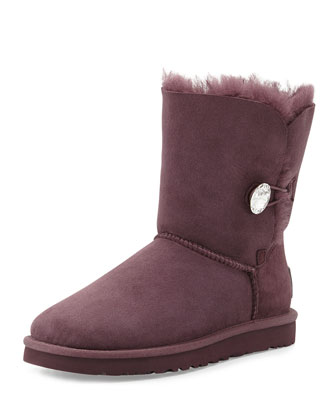 Bailey Bling Short Boot, Dark Purple