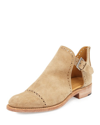 Suede Cutout Desert Boot, Sandy