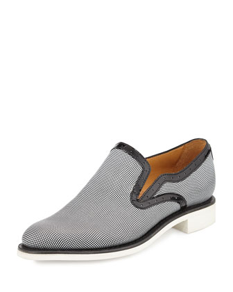 Stamped Leather Loafer, Penguin