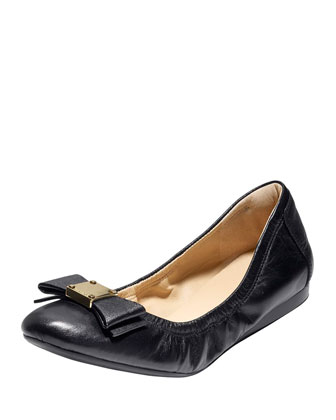 Tali Bow Ballet Flat, Black
