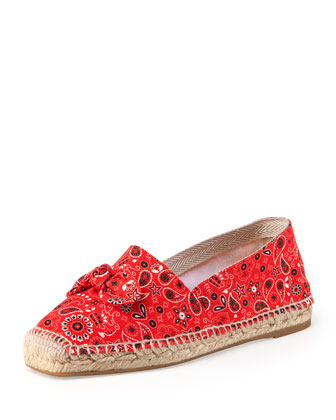 Bandana Espadrille Flat, Rodeo Red