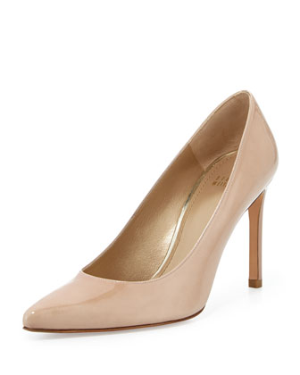 Heist Patent Leather Pump, Adobe