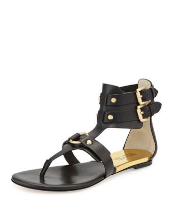 Nadine Gladiator Thong Sandal, Black