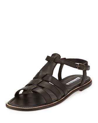 Canale Flat Cage Sandal, Tmoro