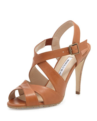Etola Leather Crisscross Sandal
