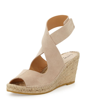Mobile Suede Espadrille Wedge, Sanda
