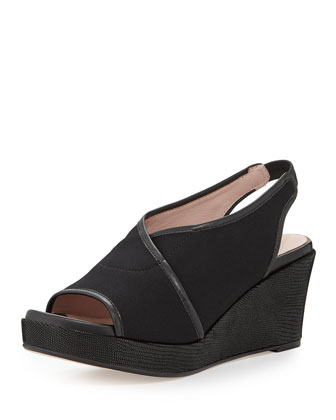 Shoshana Stretch Slingback Wedge,