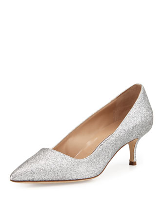 BB Glitter 50mm Pump, Silver (Made to Order)