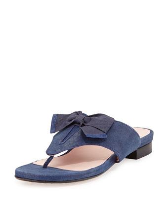 Izze Bow Thong Sandal, Medieval Blue