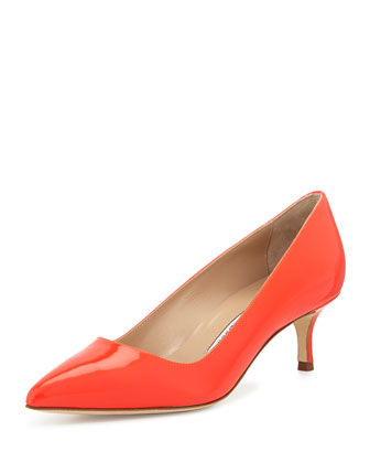 BB Patent 50mm Pump, Coral (Made to Order)