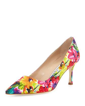 BB Fabric 70mm Pump, Vivid Floral (Made to Order)