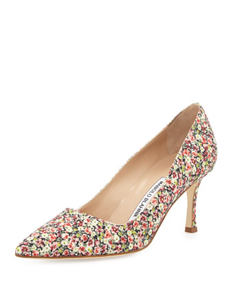BB Fabric 70mm Pump, Rose Liberty (Made to Order)