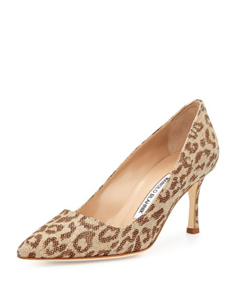 BB Fabric 70mm Pump, Leopard (Made to Order)