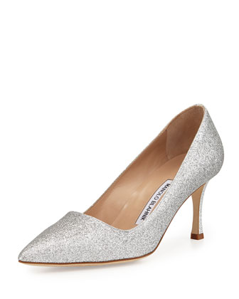 BB Glitter 70mm Pump, Silver (Made to Order)