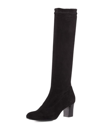 Prisca Stretch Suede Knee Boot