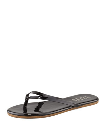 Gloss Thong Sandal, Black