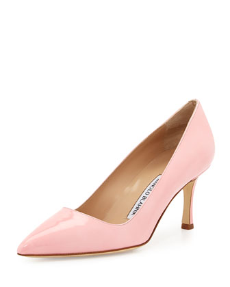 BB Patent 70mm Pump, Light Pink (Made to Order)