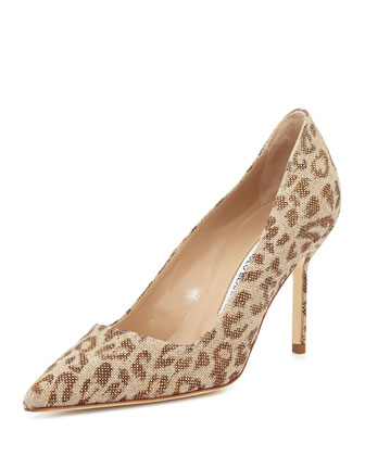 BB Fabric 90mm Pump, Leopard (Made to Order)