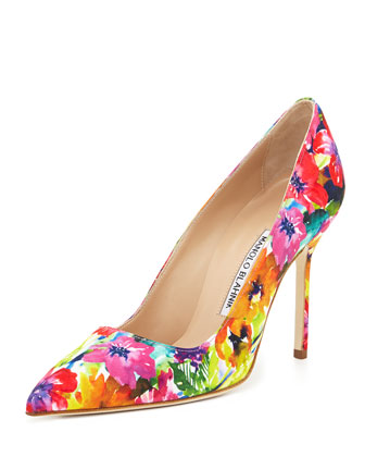 BB Fabric 105mm Pump, Vivid Floral (Made to Order)