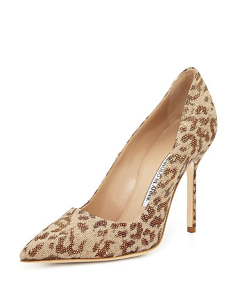 BB Fabric 105mm Pump, Leopard (Made to Order)