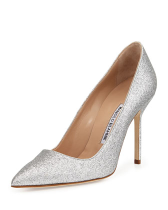 BB Glitter 105mm Pump, Silver (Made to Order)
