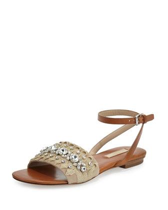 Hadden Embellished Flat Sandal