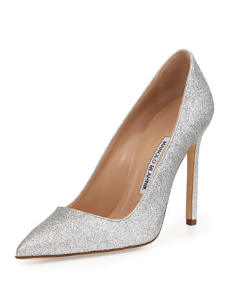 BB Glitter 115mm Pump, Silver (Made to Order)