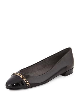 Legacy Cap-Toe Ballet Flat, Black