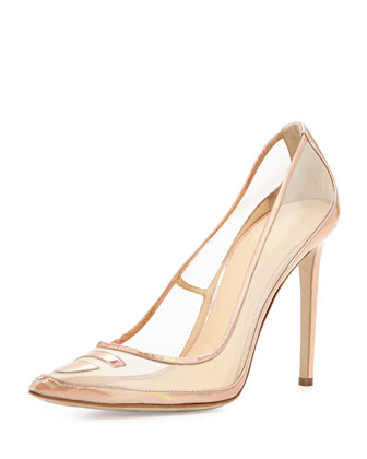 Tron Mesh Pump, Rose Gold