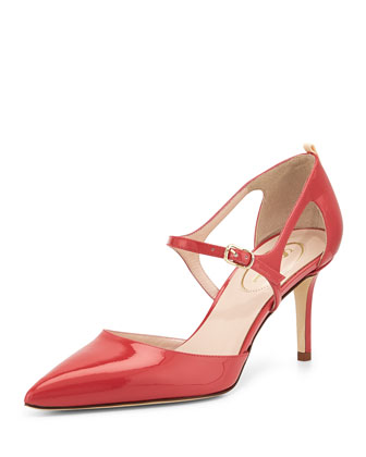 Phoebe Patent Mary Jane Pump, Red