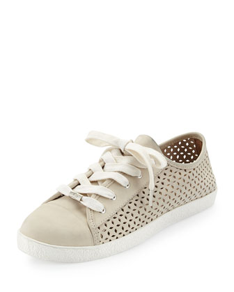 Magie Perforated Nubuck Low-Top Sneaker