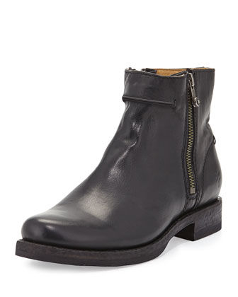 Veronica Seamed Short Boot, Black