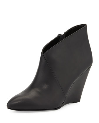 Impatient Crossover Wedge Bootie, Black